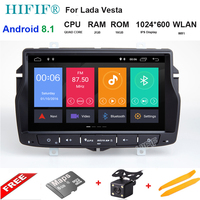 8 inch IPS HD 1024*600 2G+16G android 8.1 car dvd for Lada Vesta car radio video audio player gps navigation car stereo player