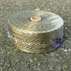 Image 2 - 2x50Ft Titanium  Motorcycle Exhaust Pipe Wrap Auto Exhaust Manifold Heat Resistant Wrap 8 Pcs Cable Ties