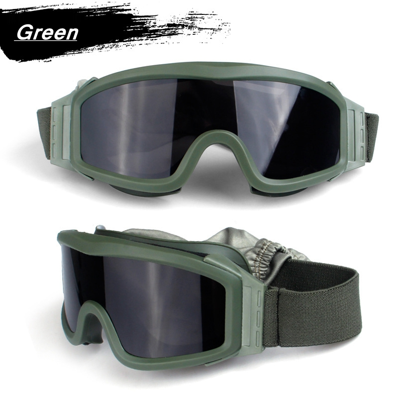 HTB1KmDkXvvsK1Rjy0Fiq6zwtXXam - Black Tan Green Airsoft Tactical Goggles USMC Tactical Sunglasses Glasses Army Airsoft Paintball Goggles
