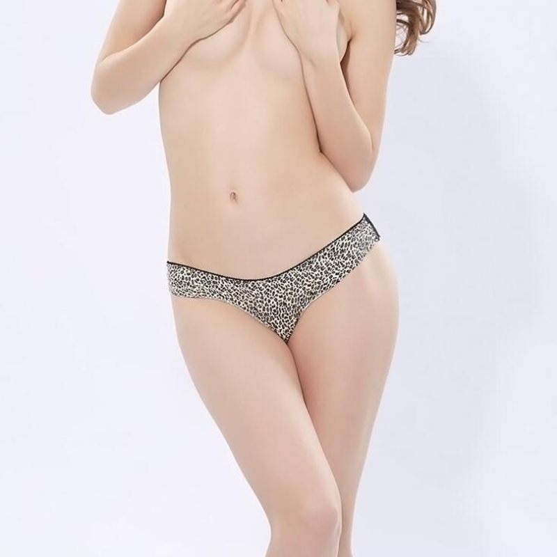 Sexy Women Panties Underwear Briefs Panties Lady Low-Rise Leopard Print Thin Panties Lingerie Female Ladies Women's Intimates