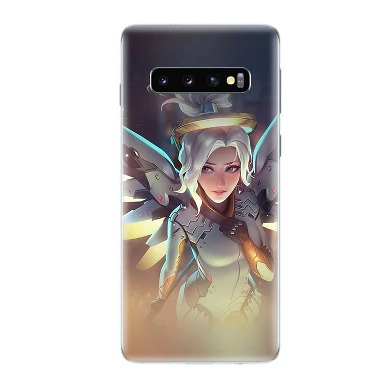 Overwatchs OW D VA Soft Phone Case for Samsung Galaxy S10 Plus S10E A50 A70 A30 A10 A20E M40 M30 M20 M10 A20 A80 A40 A60 Cover in Half wrapped Cases from Cellphones Telecommunications