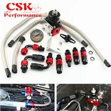 Регулируемый регулятор давления топлива+ манометр комплект подходит для CIVIC DSM STI GTI EVO r+ k