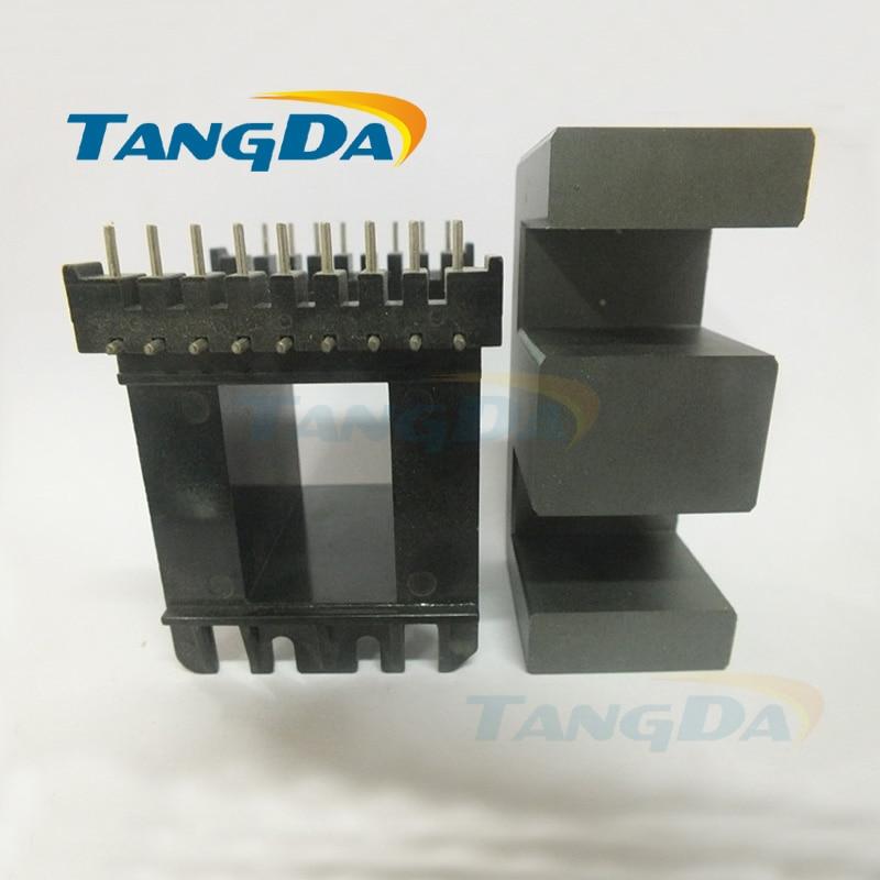 EE core EE73B 9+9L 9+9pin bobbin magnetic core+skeleton soft magnetism ferrites SMPS RF transformers horizontal PC40 (not EE73 ) 1 1 9l