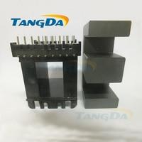 EE core EE73B 9+9L 9+9pin bobbin magnetic core+skeleton soft magnetism ferrites SMPS RF transformers horizontal PC40 (not EE73 )