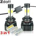 2 Pcs H7 Super Bright LED 12000LM 120 W High Power Led Farol Do Carro 3000 K 6000 K 8000 K Lâmpada de baixa Feixe 12 V Automóveis