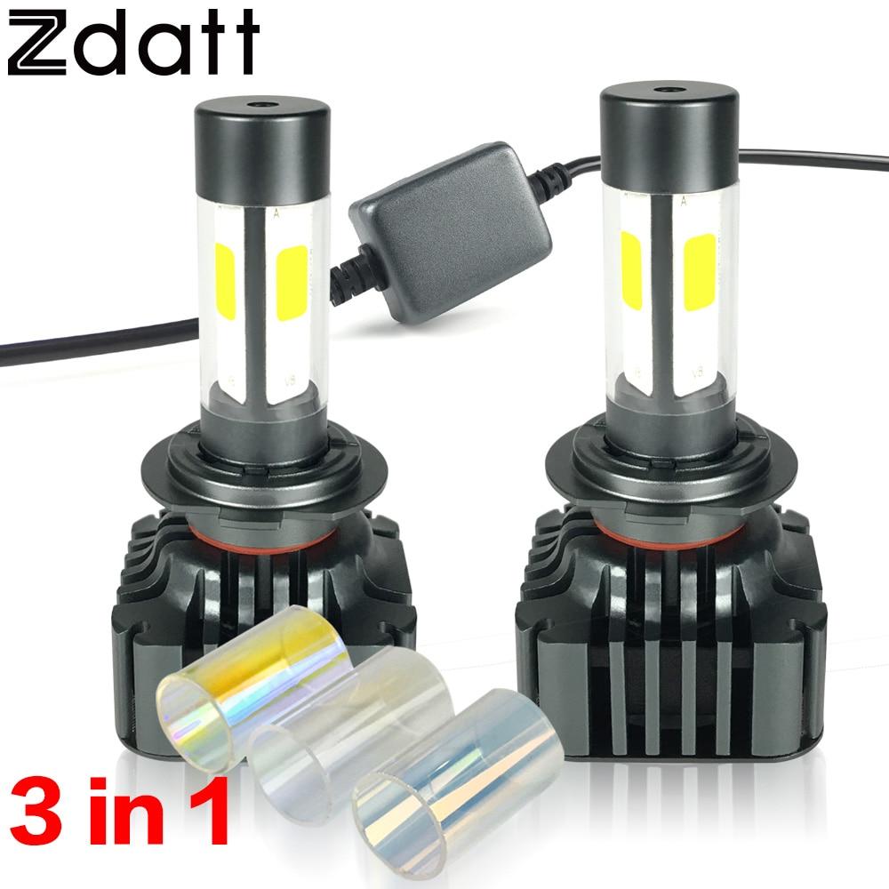 ФОТО 2Pcs Super Bright H7 Led Lamp Bulb 12000LM 120W Headlights High Power Car Led Light 3000K 6000K 8000K 12V Automobiles