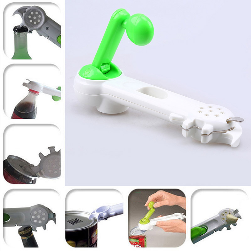 1pcs Multi-Function 7 in 1 ABS Can Easy Opener Bottle Jars Remover High Quality Wine beer Soda unbolt Kitchen Tools