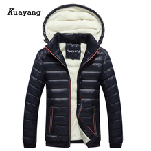 Fashion New Plus Samt Dicke Mäntel Warme Winter Herren Jacken Männlichen Kleidung Chaqueta Hombre Casual Wear Cappotto Y00266