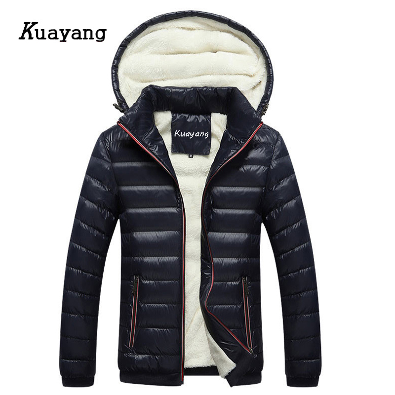 Fashion New Plus Velvet Thick Coats Warm Winter Mens Jackets Male Clothes Chaqueta Hombre Casual Wear Cappotto Y00266
