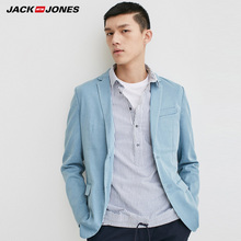 Jack Jones Brand NEW notched collar solid color denim button decoration slim male blazers |217108518 все цены