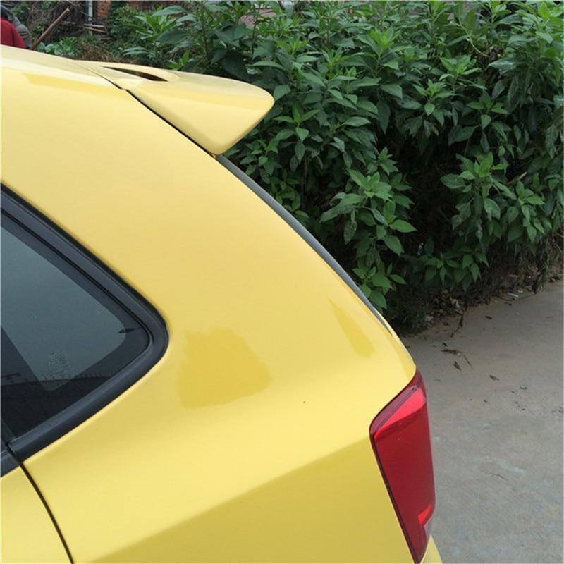 Accessoires de voiture pour Volkswagen VW Polo aileron d'aile de queue 2011 2012 2013 2014 2015 aileron de toit de coffre arrière en plastique ABS de voiture