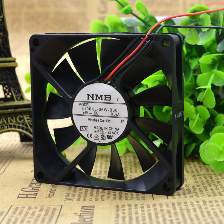Free Delivery. 3106 kl - 05 w - B30 - B00 cooling fan 24 v 0.09 A 80 * 80 * 15 mm 2 line