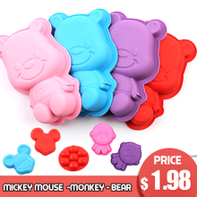 3D Lovely Bear  Form Cake Mold Silicone Baking Tools Kitchen Fondant Cutters Smiley Face Decoratie Silikonowe Formy new