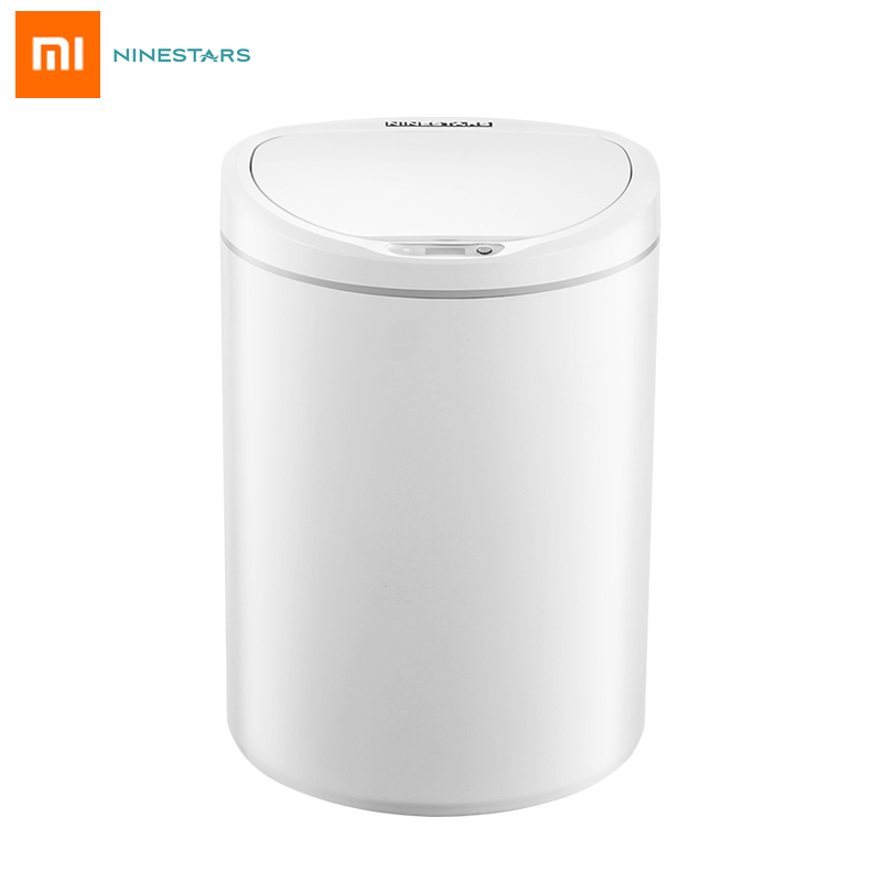 Original Xiaomi NINESTARS Smart Sensor Trash Can 10L Automatic Induction Silent Touchless Ashbin For Home Office