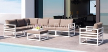 Outdoor patio white aluminum frame sofa set furniture sale