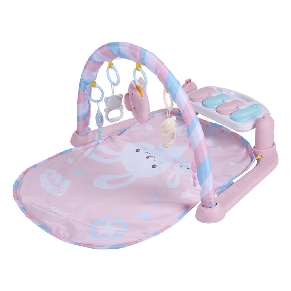 Nouveau bébé jouer tapis Fitness musculation cadre pédale Piano musique tapis couverture activité Gym coup de pied jouer poser assis jouet pour les nouveau-nés - 4