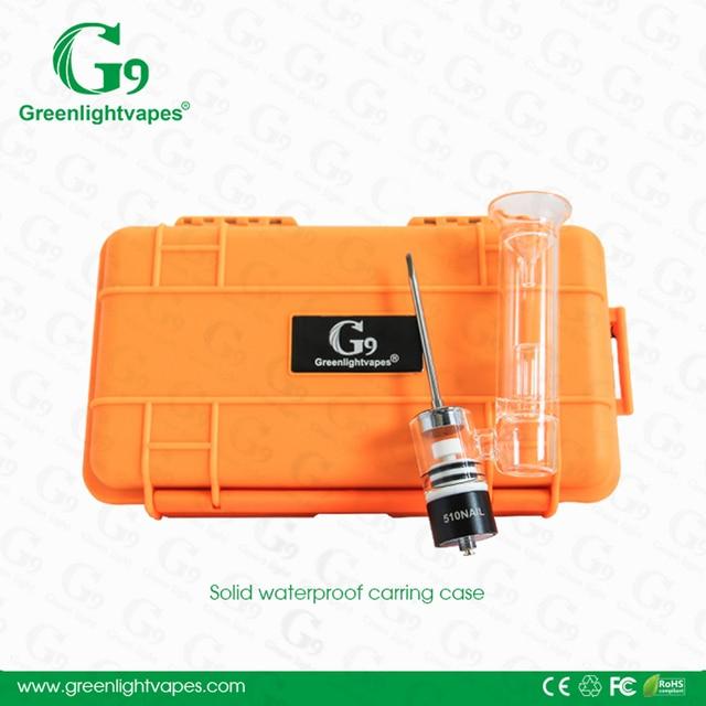 G9 510 ногтей Керамика кварцевая камера чашки парафиновое масло концентраты Dab однотонные Водонепроницаемый чехол Vapor подходит 510 резьбой коробка Mod Батарея