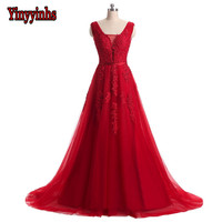 Beaded Lace Appliques Backless Long Formal Evening Gown Dress Burgundy Royal Silver Pink Prom Ball Dresses
