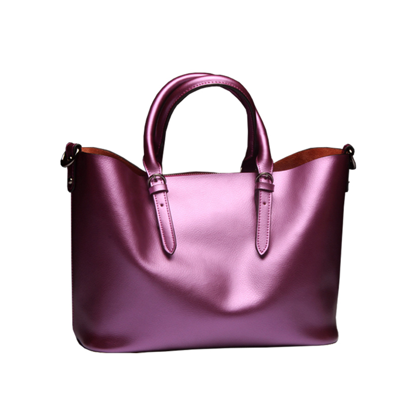 2016 new European and American leather handbag shoulder bag bags imported leather handbag foreign trade goods 2017 new european and american large capacity foreign trade ladies package simple retro handbag fashion trend tote shoulder bag