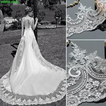 2017 nueva diy europea lentejuelas accesorios de ropa de encaje óseo para correa del vestido velo de la novia de la boda cortinas de la ventana 1 m
