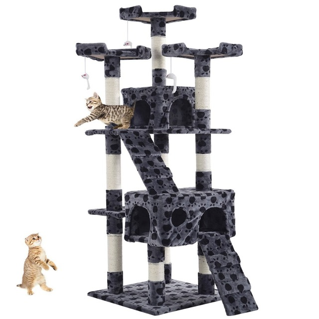Goplus New 66 170cm Cat Tree Tower Condo Furniture Scratching Post Pet Kitty Play
