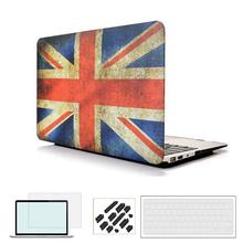 RYGOU Case for New Macbook Pro 2018 US/UK Flag Rubberized Finsh Hard Case for Apple Macbook Air Pro Retina 11 12 13 15 inch цена и фото