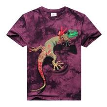 2017 summer Men's brand clothing short sleeve animal T-shirt gas monkey/lion 3D Digital Printed T shirt Homme large size