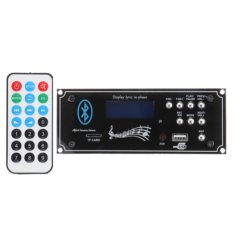 LEORY DC 12V MP3 Decoder Board bluetooth <font><b>Car</b></font> <font><b>Audio</b></font> Decoding Module <font><b>DIY</b></font> with USB Aux for <font><b>Amplifiers</b></font> Board Home Theater image