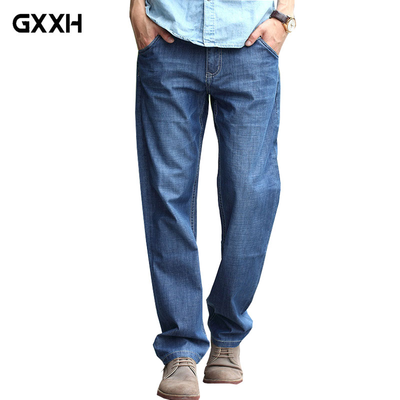 2019 New Men Loose Casual jeans Spring and Summer Cotton Large size Thin Denim pants High Quality jeans Size 28-40 42 44 46 48