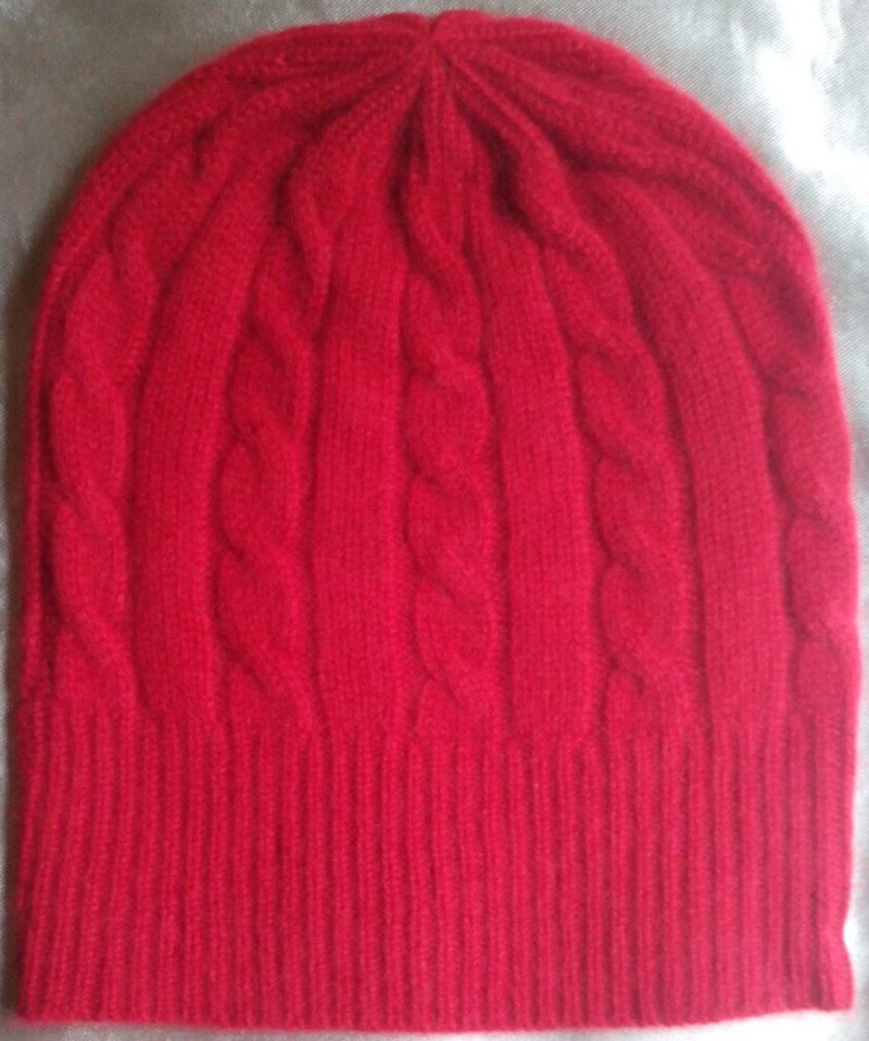 specials clean inventory 100%goat cashmere women hats caps thick beanies big berets red beige M(56-58cm)