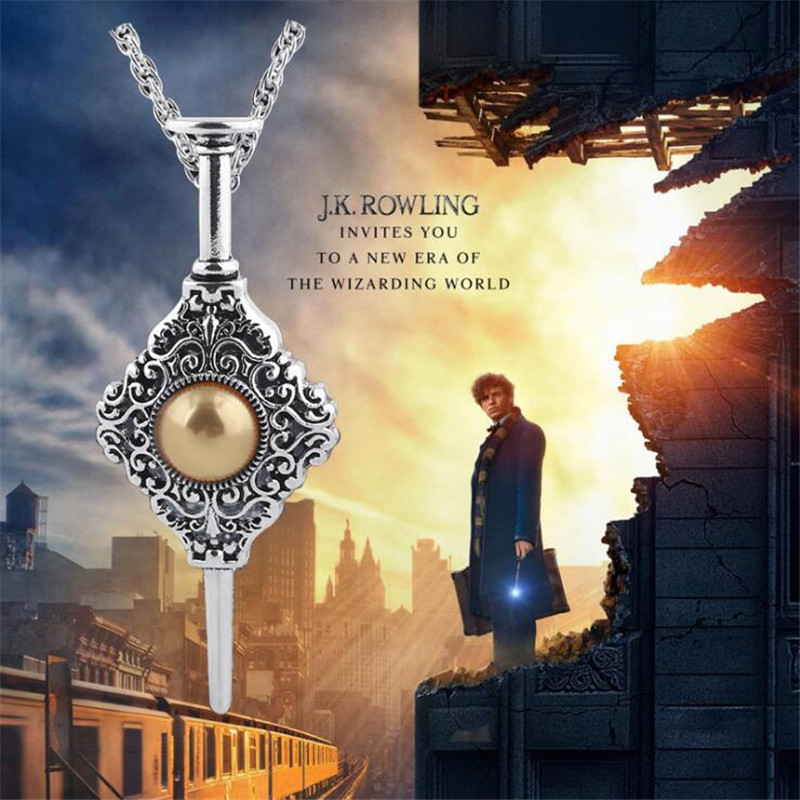 Movie Harry Potter Fantastic Beasts And Where To Find Them Necklace Badge Guilds Contract Cosplay Costumes Accessories Fancy
