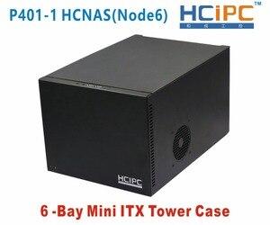 Чехол HCiPC 6Bay Mini ITX, корпус 6Bay NAD для жесткого диска, 6bay NAS-сервер, чехол NAS