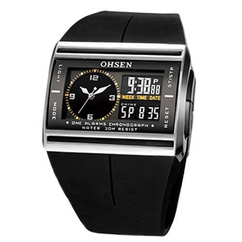 Banda de Borracha do Esporte Relógio de Pulso Eletrônico à Prova Analógico Digital Luminoso Data Masculino Relógio Dwaterproof Água 30m Relojes Led