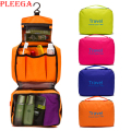 PLEEGA Brand Women Travel Wash Bag Portable Folding Suspension Cosmetic Bag Wash Supplies Makeup Organizer Bag Zipper Makeup Bag