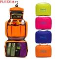 PLEEGA Brand Women Travel Wash Bag Portable Folding Suspension Cosmetic Bag Wash Supplies Makeup Organizer Bag Zipper Makeup Bag