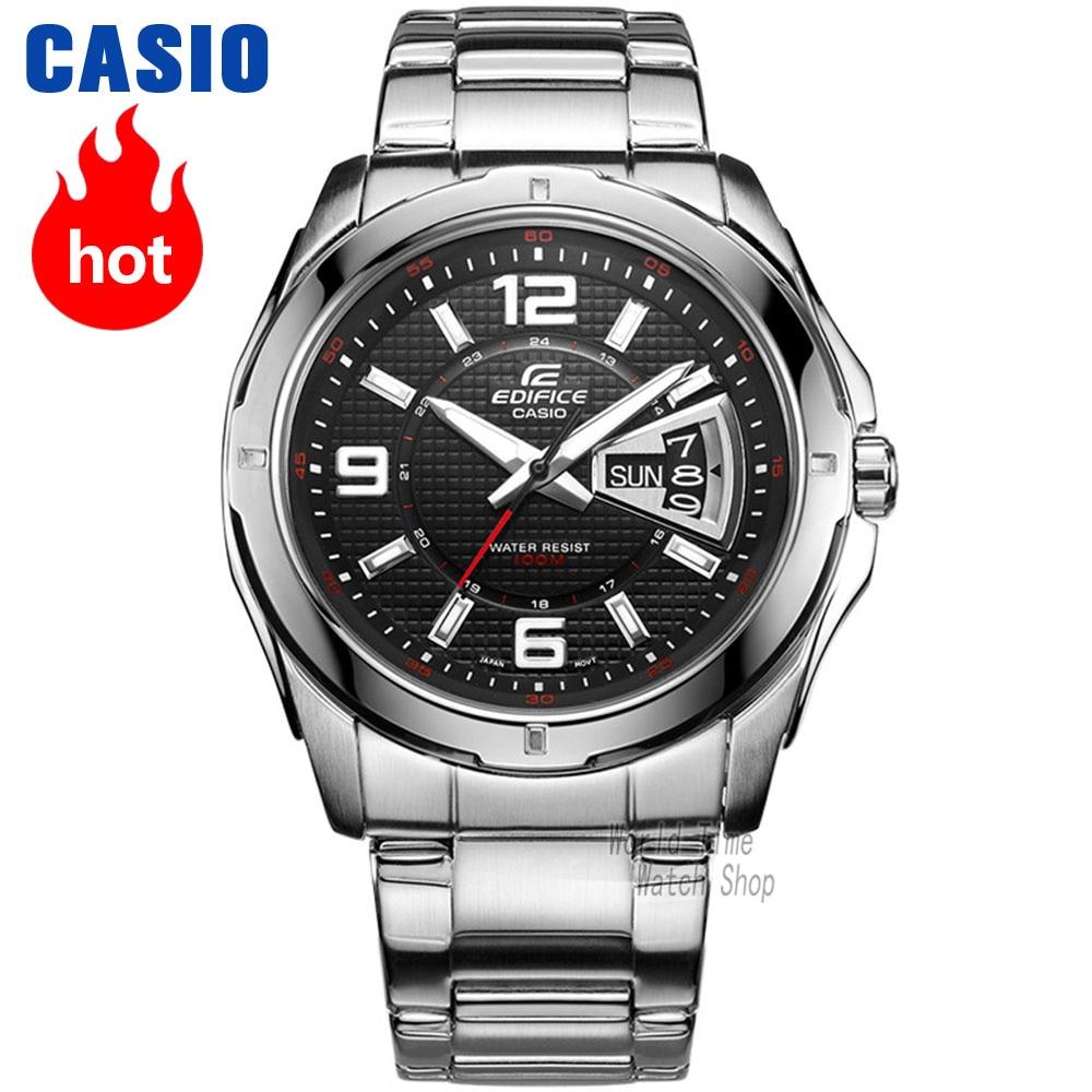 Casio watch Edifice Men's quartz sports watch Easy to match fashion steel belt trend waterproof watch EF-129 цена и фото