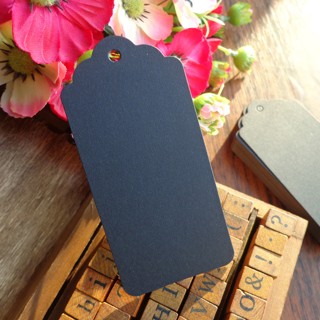 50pcs Big Size 4.5X9.5cm Black Cardboard Gift Tags, Wedding Favor ...