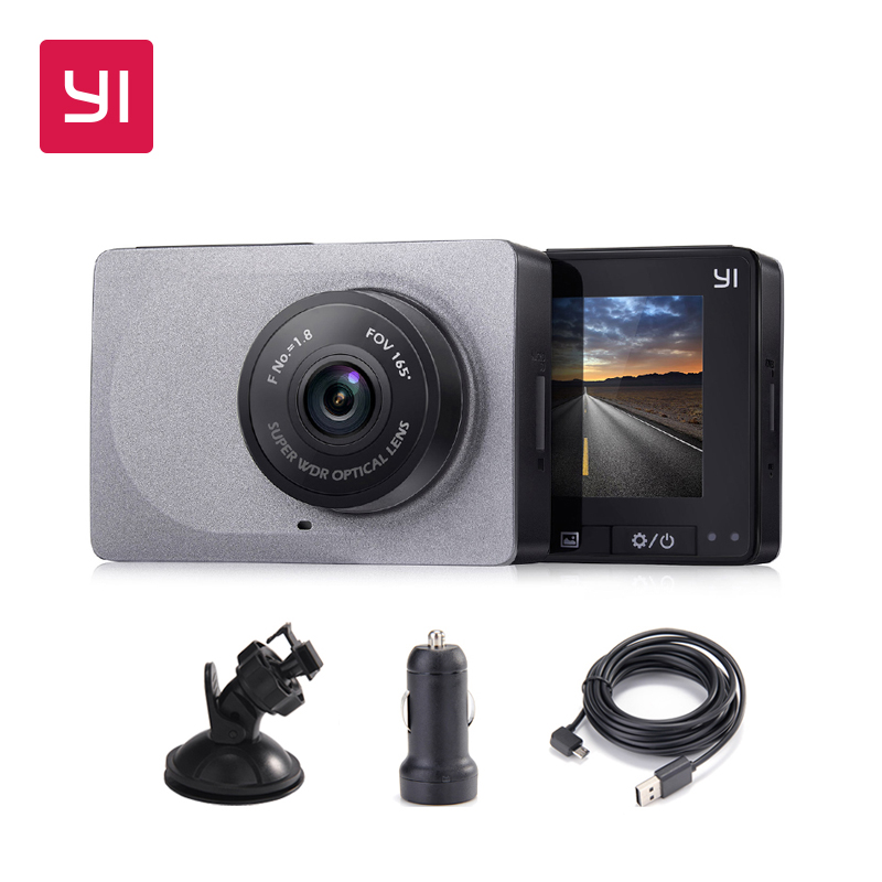 YI Dash Camera 2.7 Screen Full HD 1080P60fps 165 degree Wide-Angle Car DVR Vehicle Dash Cam with G-Sensor Night Vision ADAS full hd 1080p vehicle blackbox dvr with g sensor