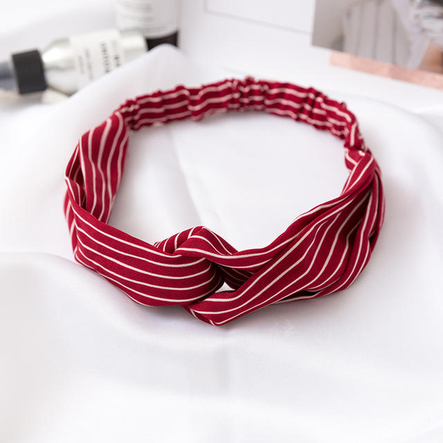 Women  Headband Vintage Cross Knot Elastic Hair Bands Soft Solid Girls Hairband Hair Accessories 1