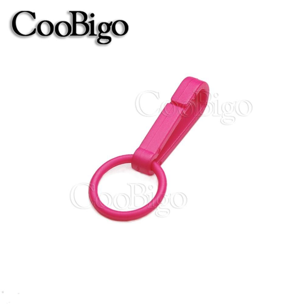 100 шт Упаковка Пластиковые Красочные защелки крюк перчатки пряжки-Крючки с уплотнительным кольцом звено цепи вешалка сумка Запчасти Аксессуары# FLC078(Mix-s - Цвет: Pink