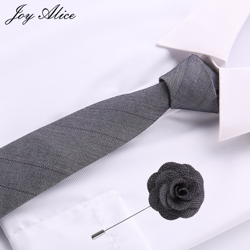 Fashion Ties for Men Cotton slimTie Skinny Cravat Neckties for Winter Men Party Skinny Tie Casual grey Neck Ties Neckwear