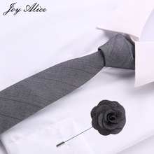 Fashion Ties for Men Cotton slimTie Skinny Cravat Neckties Winter Party Tie Casual grey Neck Neckwear