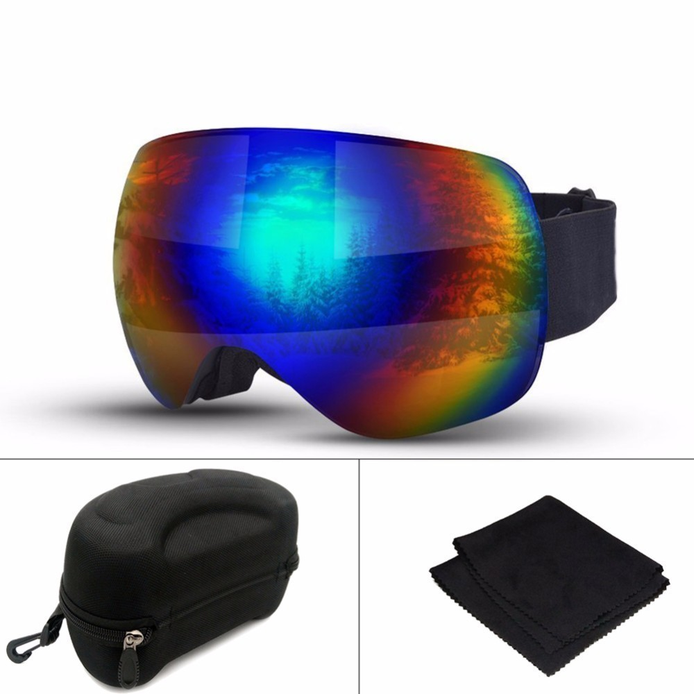 Big Ski Mask Goggles Double Layers Men Women Winter Cycling Sports Glasses Skiing Snowmobile Motocycle Windproof Goggles