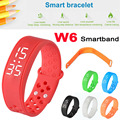 40PCS LED W6 Sports Intelligent Pedometer Smart Bangle Smartband Wristband Watch Fitness Tracker Temprature Silicone Bracelet