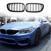 2pcs Car Front Bumper Kidney Grilles For BMW E90 318 320i 325i 330i 08 11 Car