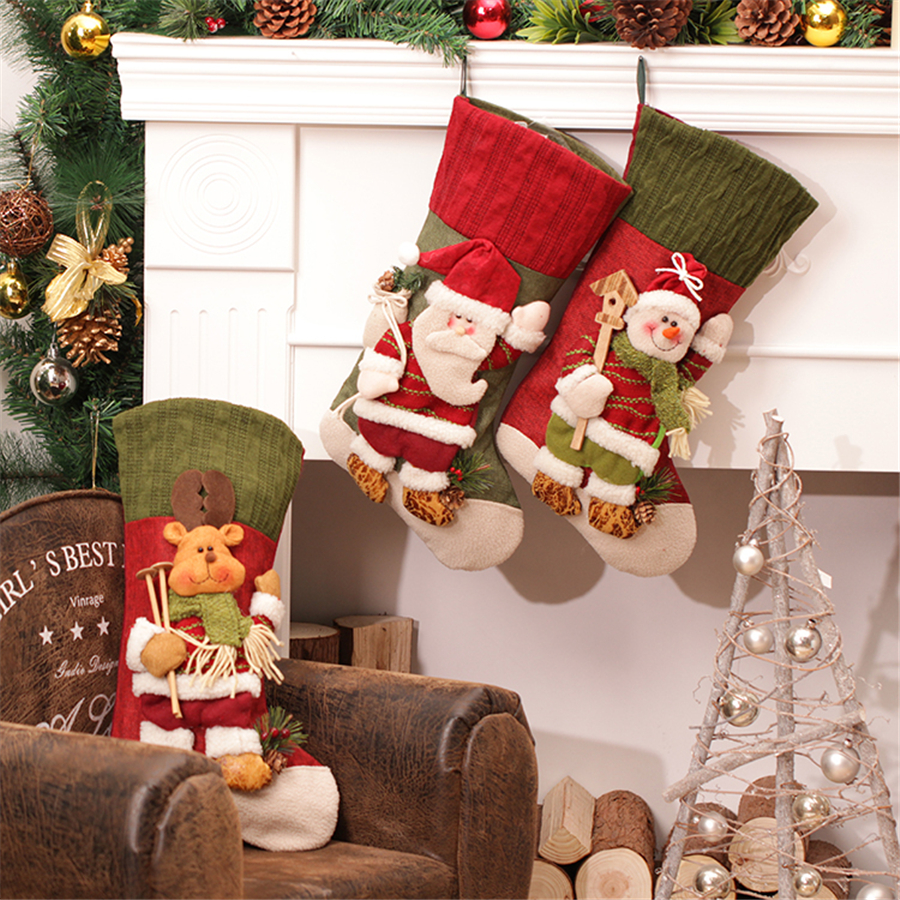 large creative christmas decorations for home christmas tree holders stockings - Christmas Stockings