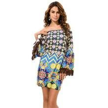 970f928a6 Tailândia Estilo Strapless vestido mulheres verão de slash neck Borlas mulheres  vestido de verão 2019 mini vestidos mujer 2019 c.