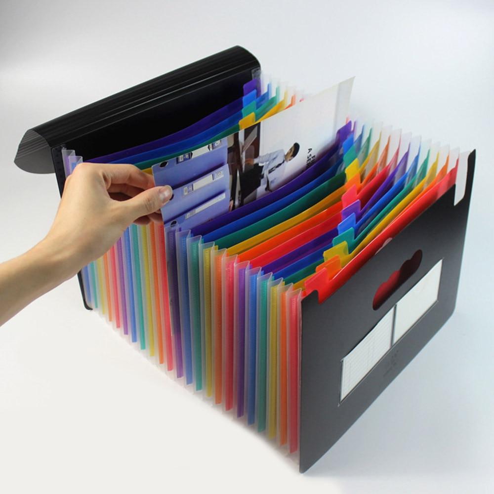 24 Pockets Expanding File Folder A4 Organizer Document Holder Large Capacity High Quality Hot Sale