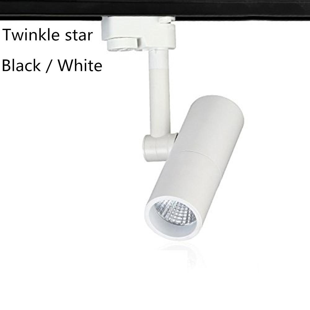 led track light 7w cob track rail AC 110V  220V  white warmwhite 3000K 4000K 6500K track lighting  spotlight