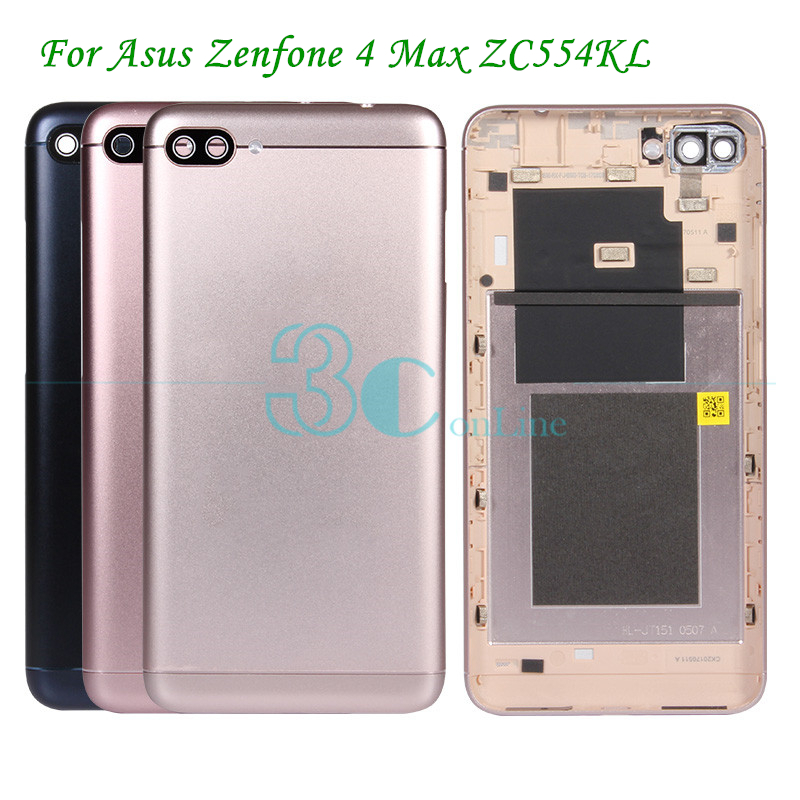 best service c5590 e2d94 US $11.39 5% OFF|For Asus Zenfone 4 Max ZC554KL Back Cover Metal Battery  Door For Asus Zenfone4 Pro Plus Max Rear Housing Replacement Spare Parts-in  ...